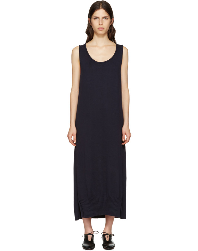 photo Navy Long Tank Dress by Ys - Image 1