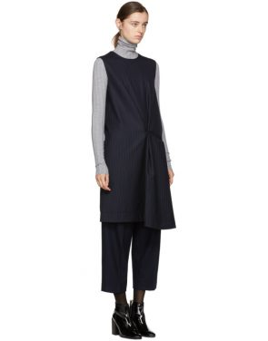 photo Navy Pinstripe Danya Dress by Acne Studios - Image 2
