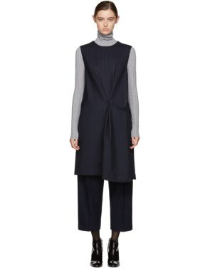 photo Navy Pinstripe Danya Dress by Acne Studios - Image 1