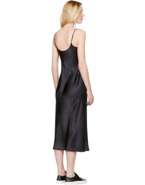 photo Black Silk Charmeuse Cami Dress by T by Alexander Wang - Image 3