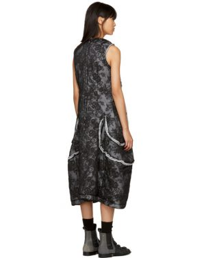 photo Black Padded Floral Lace Dress by Comme des Garcons - Image 3