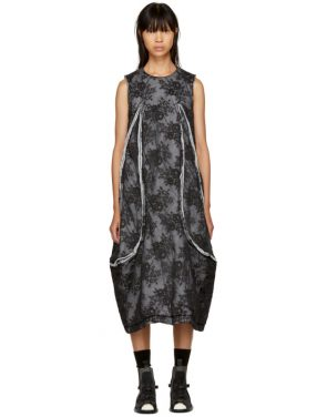 photo Black Padded Floral Lace Dress by Comme des Garcons - Image 1
