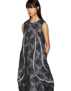 photo Black Padded Floral Lace Dress by Comme des Garcons - Image 4