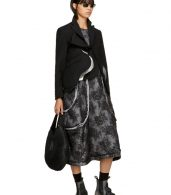 photo Black Padded Floral Lace Dress by Comme des Garcons - Image 5