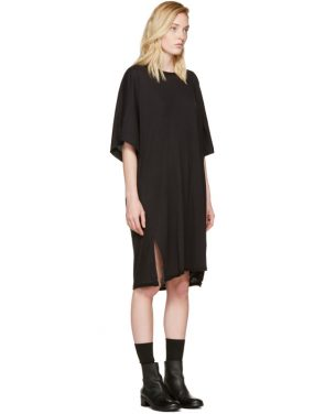 photo Black Kimono Dress by Raquel Allegra - Image 2