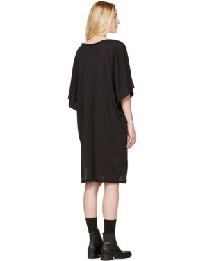 photo Black Kimono Dress by Raquel Allegra - Image 3