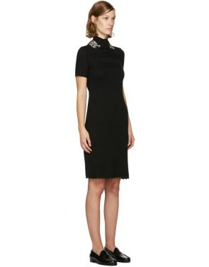 photo Black Jewelled Collar Dress by Carven - Image 2