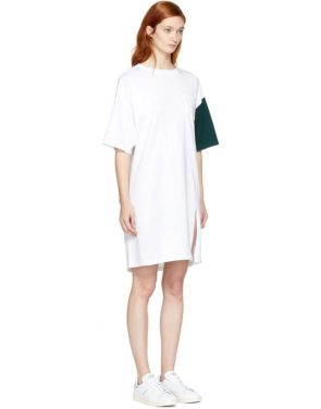 photo White and Green California Club Tee Dress by SJYP - Image 2