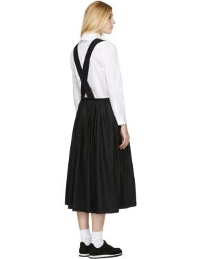photo Black Zip Pinafore Dress by Comme des Garcons Comme des Garcons - Image 3