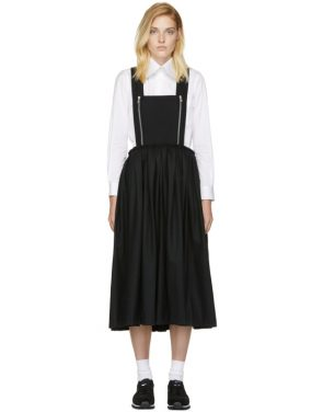 photo Black Zip Pinafore Dress by Comme des Garcons Comme des Garcons - Image 1