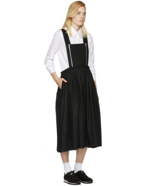 photo Black Zip Pinafore Dress by Comme des Garcons Comme des Garcons - Image 4