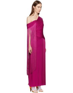 photo Pink Wrapped Fringe Dress by Emilio Pucci - Image 2