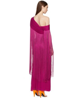 photo Pink Wrapped Fringe Dress by Emilio Pucci - Image 3