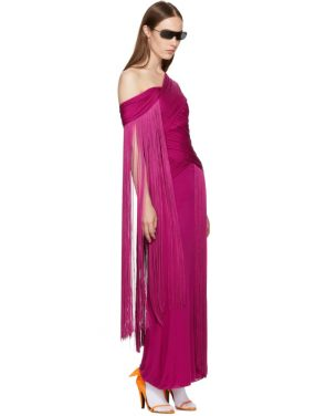 photo Pink Wrapped Fringe Dress by Emilio Pucci - Image 4