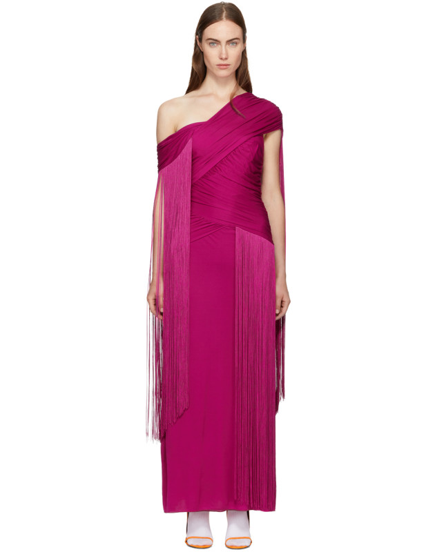 photo Pink Wrapped Fringe Dress by Emilio Pucci - Image 1