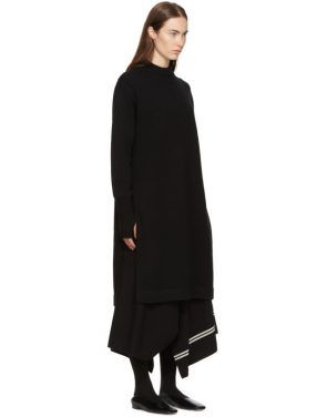 photo Black Crewneck Sweater Dress by Hyke - Image 2