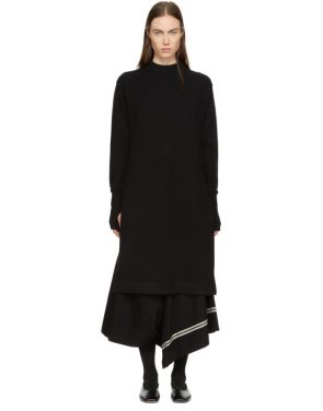 photo Black Crewneck Sweater Dress by Hyke - Image 1