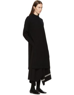 photo Black Crewneck Sweater Dress by Hyke - Image 4