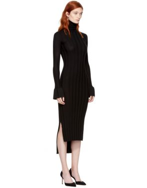 photo Black Wool Malina Dress by Khaite - Image 2