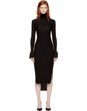 photo Black Wool Malina Dress by Khaite - Image 1