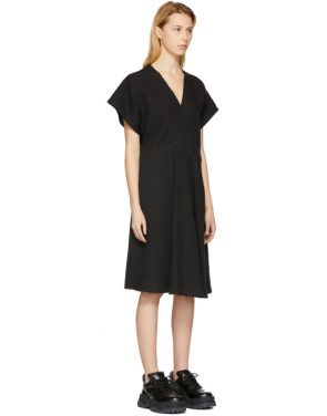 photo Black Jessa Raw Linen Dress by Acne Studios - Image 2