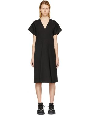 photo Black Jessa Raw Linen Dress by Acne Studios - Image 1