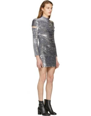 photo Silver Disco Dress by Helmut Lang - Image 2
