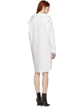 photo White Tape Shirt Dress by T by Alexander Wang - Image 3