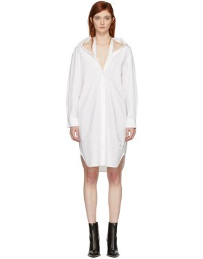 photo White Tape Shirt Dress by T by Alexander Wang - Image 1