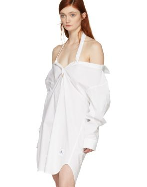 photo White Tape Shirt Dress by T by Alexander Wang - Image 4