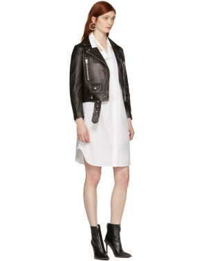 photo White Tape Shirt Dress by T by Alexander Wang - Image 5