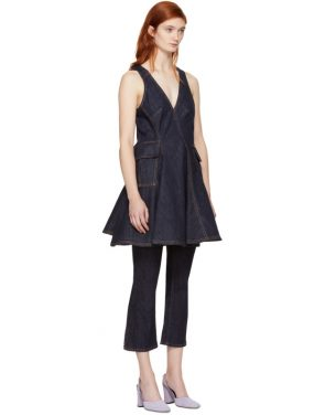 photo Indigo Short Denim Dress by Carven - Image 2