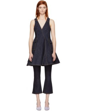 photo Indigo Short Denim Dress by Carven - Image 1