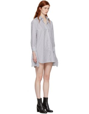photo Black and White Striped Shirt Dress by Neil Barrett - Image 2