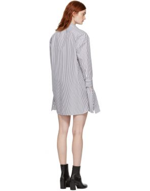 photo Black and White Striped Shirt Dress by Neil Barrett - Image 3