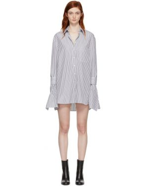 photo Black and White Striped Shirt Dress by Neil Barrett - Image 1