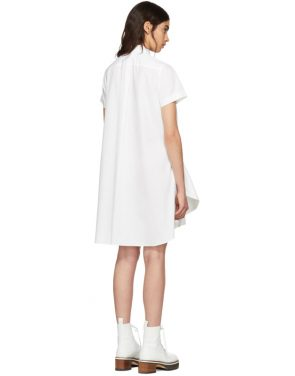 photo White Poplin Dress by Sacai - Image 3