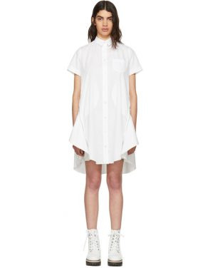 photo White Poplin Dress by Sacai - Image 1