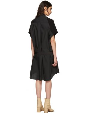 photo Black Classic Cotton Knit Dress by Sacai - Image 3