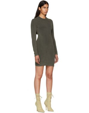 photo Grey Crewneck Jersey Dress by YEEZY - Image 2