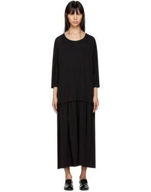 photo Black Three-Quarter Sleeve Dress by Ys - Image 1