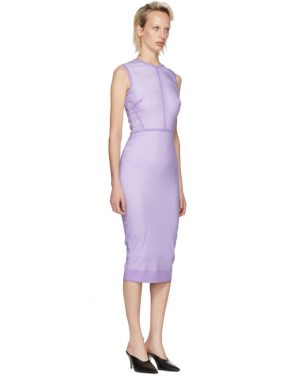 photo Purple Linear Fitted Dress by Victoria Beckham - Image 2