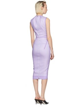 photo Purple Linear Fitted Dress by Victoria Beckham - Image 3