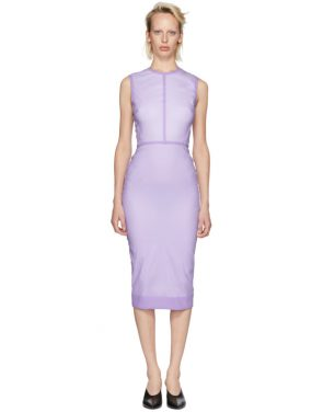photo Purple Linear Fitted Dress by Victoria Beckham - Image 1