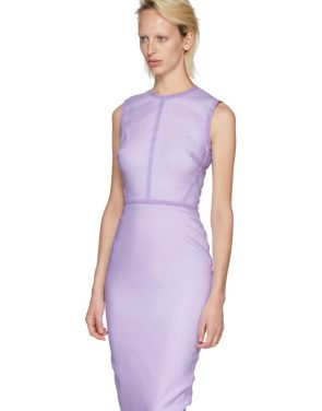 photo Purple Linear Fitted Dress by Victoria Beckham - Image 4