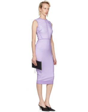 photo Purple Linear Fitted Dress by Victoria Beckham - Image 5