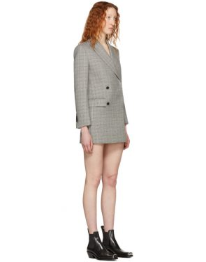 photo Black and White Plaid Short Blazer Dress by Calvin Klein 205W39NYC - Image 2