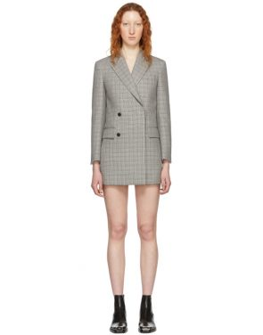 photo Black and White Plaid Short Blazer Dress by Calvin Klein 205W39NYC - Image 1