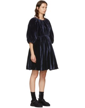 photo Navy Velvet Ava Dress by Cecilie Bahnsen - Image 2