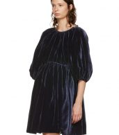 photo Navy Velvet Ava Dress by Cecilie Bahnsen - Image 4